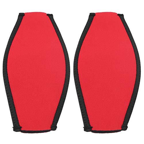 Meiyya Cubierta de Espejo de Buceo antisudor, Correa de bofetada de Buceo Antideslizante de 20x9 cm, para bucear Piscina mar(Red)