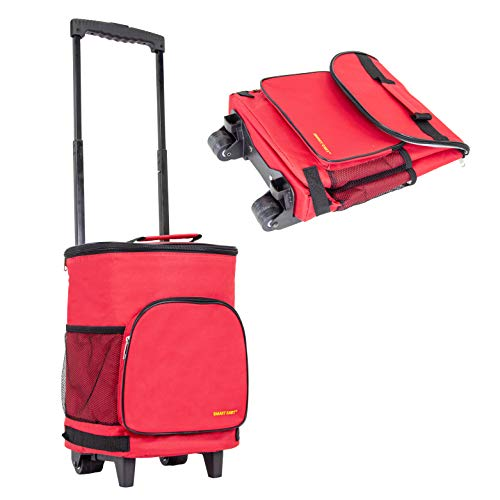 dbest products Ultra Compact Cooler Smart Cart, Red Insulated...