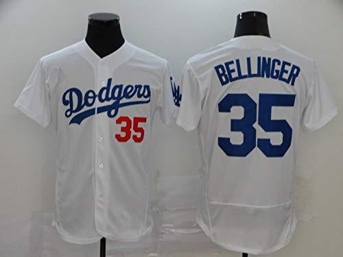JMING Dodgers #35 Bellinger Uniforme De Béisbol para Hombre, Camiseta De Uniforme De Entrenamiento De Béisbol De élite, Manga Corta con Botón Superior De Béisbol (XXXL,A4)