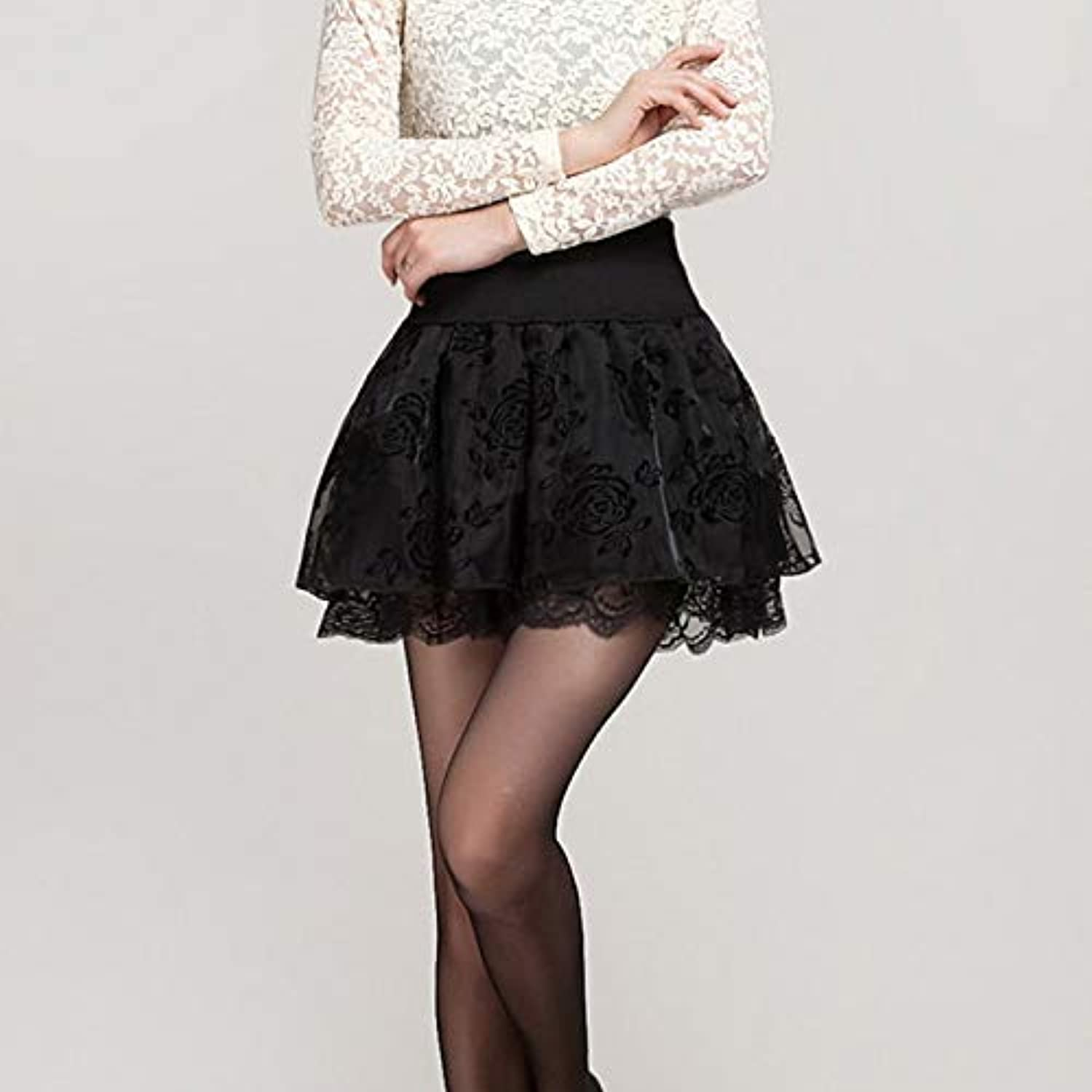 Women's Mini a line Skirts  Solid colord Ruffle