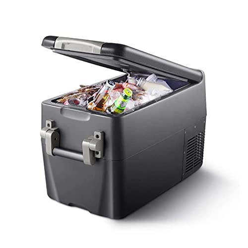 XTZJ Frigorífico de coche, 31 cuartos portátiles y compactos RV nevera, -4 ° F a 68 ° F, refrigerador de congelador de compresor eléctrico con panel de operación, diseño de ranura, para vehículos, via