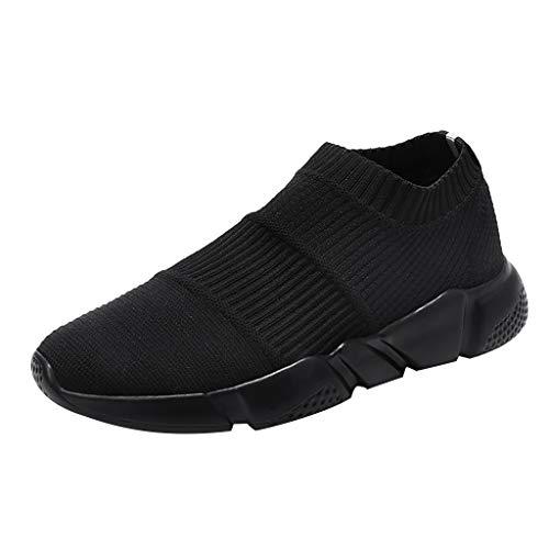 AIni Herren Schuhe Mode Beiläufiges 2019 Neuer Heißer Sommer Socken Flut Schuhe Casual Schlüpfen Sneaker Mesh Breathable Sneakers Freizeitschuhe Partyschuhe (41,Schwarz)