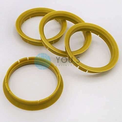 4 x ZENTRIERRING DISTANZRING für ALUFELGEN R20 72,5-66,6 mm Alloytec, ASA, ICW, RH Alurad, Smoor, X-Tra Wheels