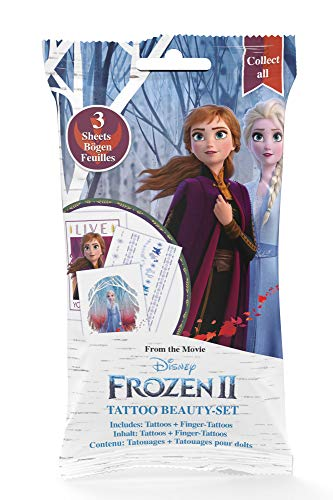 CRAZE Frozen 2 Tattoo Foilbag Beauty Set Tattoos + Fingertattoos 22672, mehrere Ausführungen