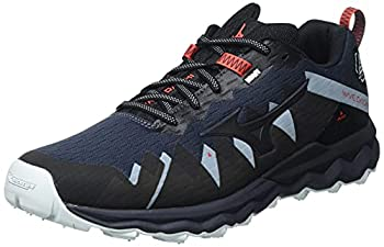 Mizuno Men s Trail Running Shoe Indiaink Blk Ignitionred 8.5