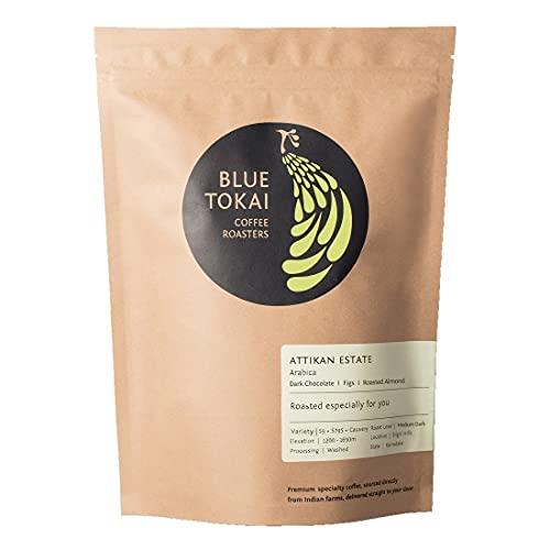 Blue Tokai Coffee - Medium Dark Roast - 100% Specialty Grade Indian Coffee - Attikan Estate - Moka Pot grind -250 gm