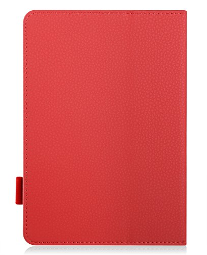 """IVSO Case for ASUS Zenpad 8 Z380M, ASUS Zenpad 8.0 Z380M Case Leather Slim-Book Stand Cover Case-for ASUS Zenpad Z380M-A2-GR 8"""" Tablet (Red)"""