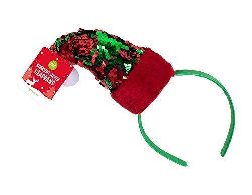 TopgadgetsUK - Diadema con lentejuelas para árbol de Navidad, diseño de arco iris
