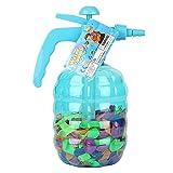 Dedeka Botella Inflador de Globos con 500 Globos de Agua para Fiesta Infantil, cumpleaños