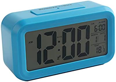 LTOOD Reloj Despertador multifunción Estudiante niños Cama Dormitorio Mute Relojes electrónicos Creativo Minimalista Luminoso Inteligente pequeño