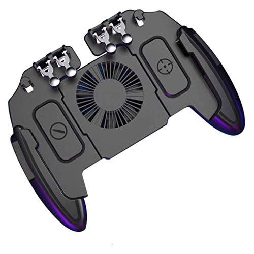 YUYANDE Controlador de Juegos móvil Controlador Mobile Controller Apunta y dispara el Disparador, el Joystick Remote Grip para 4.0-6.5'iPhone Android iOS Teléfono Accesorios (Negro)