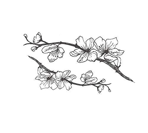 Autocollants provisoires de tatouage de corps de fleur de pêche de 4 feuilles pour la partie de costume de Cosplay