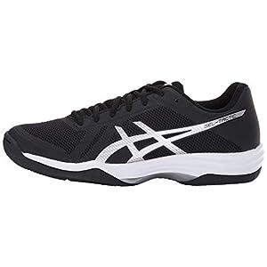 ASICS Women's Gel-Tactic 2 Volleyball Shoe, Black/Silver/White, 9.5 Medium US