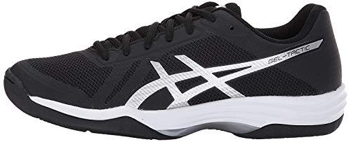 ASICS Women's Gel-Tactic 2 Volleyball Shoe, Black/Silver/White, 10 Medium US