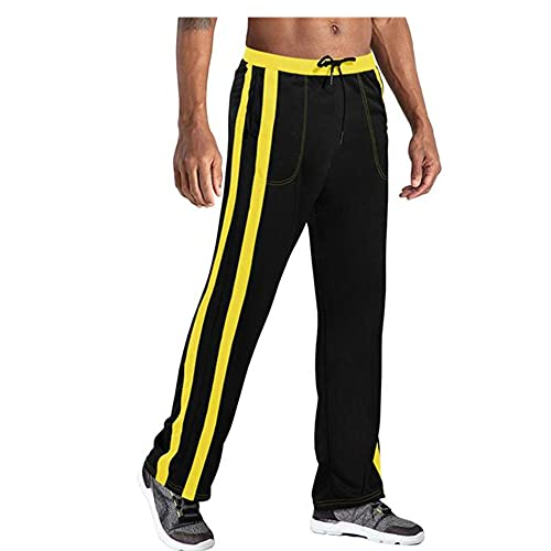 N\P Pantalones de running de los hombres tela de malla transpirable gimnasio yoga pantalones ropa deportiva