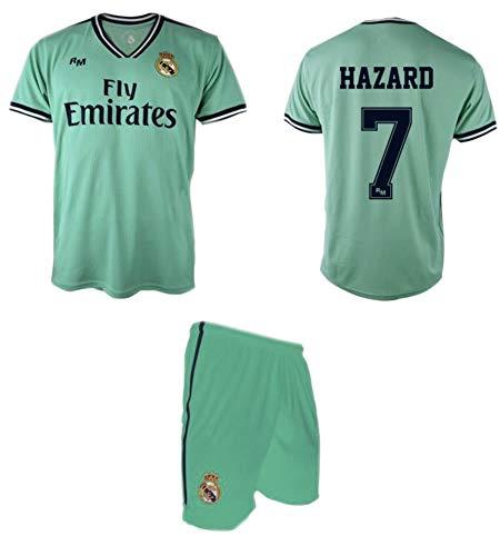 Real Madrid Hazard 3ª Equipación Verde niño Camiseta pantalón Tallas 6 a 14 (Talla 10)