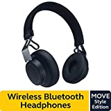 Jabra Move Style Edition, Navy – Wireless Bluetooth Headphones with Superior Sounds Quality, Long Battery Life, Ultra-Light and Comfortable Wireless Headphones, 3.5 mm Jack Connector Included