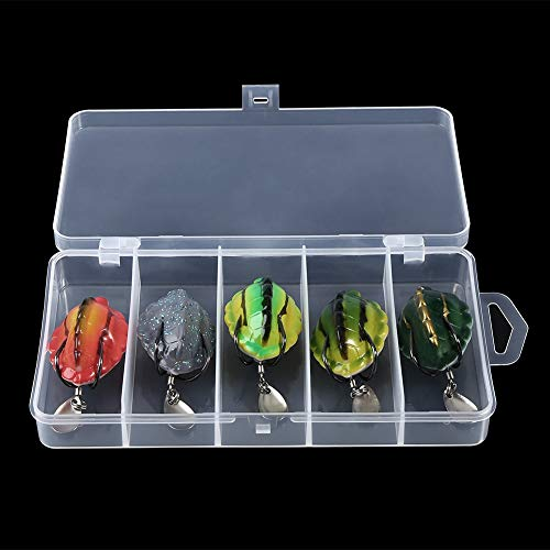 Meiyya 【𝐂𝒚𝐛𝐞𝐫 𝐌𝐨𝐧𝐝𝐚𝒚 𝐃𝐞𝐚𝐥𝐬】 Soft Fishing Lures, 5Pcs/Lot Silicone Soft Lifelike Fishing Lures Turtles Bait with Sequins Tackle Accessories