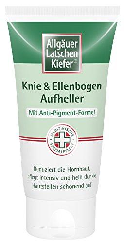 Allgäuer Latschenkiefer Knie & Ellenbogen Aufheller 75ml mit Anti-Pigment-Formel, reduziert Hornhaut, hellt dunkle Hautstellen schonend auf