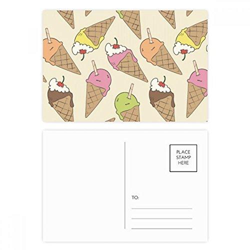 DIYthinker Kers Crème Chocolade Ijs Ansichtkaart Set Verjaardag Thanks Card Mailing Side 20 stks 5.7 inch x 3.8 inch Multi kleuren