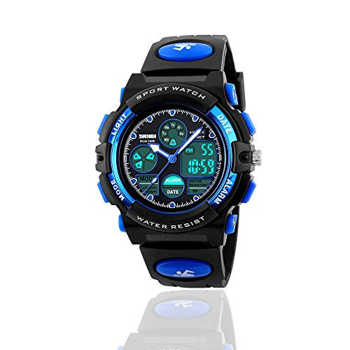 Popular Toys for 6 Year Old Boys - Toys for 3-11 Year Old Girls, Treasure Store Sports Waterproof Digital Watches Analog Smart Girl Watches Ages 5-10 Gifts for 3-11 Year Old Girls Boys (Blue)