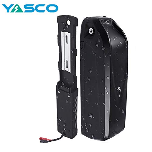 Yasco 36v Ebike Battery with 20A BMS, 20Ah Large Capacity Removable Lithium Battery for 250w/350w/500w Adult Electric Bike Conversion Kit
