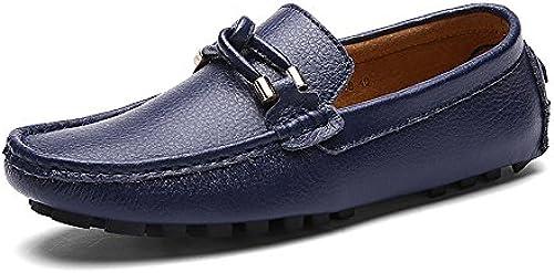 JUJIANFU-Bequeme Schuhe Herren Classic Driving Penny Slipper Casual Mokassins Weißhe Gummisohle Mit Verwobenem Seil Dekor (Farbe   Marine, Größe   44 EU)