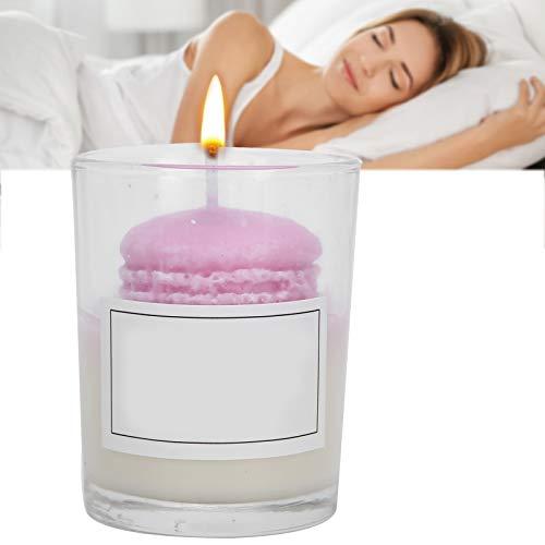 Vela aromática, Vela romántica en tarro, Meditación, Baño, Yoga, Velas para aliviar el estrés, Vela perfumada, Vela con vaso de vidrio, Baño Decoración para el hogar, Fragancia fuerte (Púrpura)
