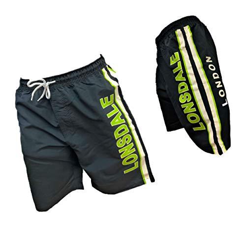 Lonsdale Boxer Mare Costume Uomo Pantaloncini da Bagno Swim Shorts (Black 19262, XL)