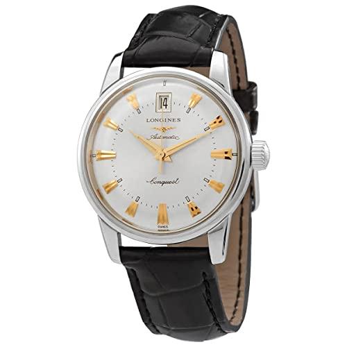 Longines orologio Conquest Heritage 35mm Sunray Silver Acciaio uomo automatico L1.611.4.75.4