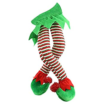 Christmas Ornaments Creative Plush Elf Legs Christmas Tree Ornaments Decorative Santa Claus Legs Christmas Tree Pendant Christmas Tree Hanging Ornaments Christmas Tree Decoration Christmas Pendants