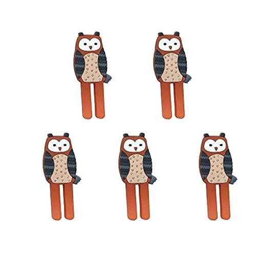 STROG 5 ganchos adhesivos para pared de plástico fuerte, sin clavos, ganchos extraíbles para dormitorio, baño, impermeable, para cocina, baño, oficina, armario y dormitorio (Style8, naranja y gris)