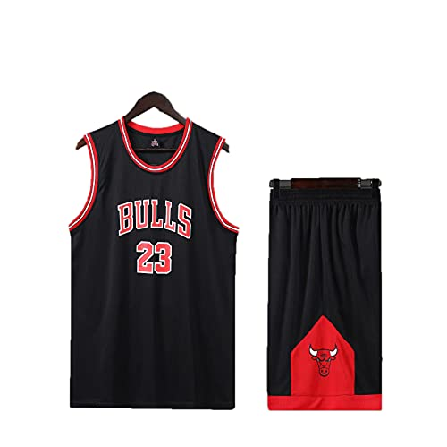 HAZYJT Camiseta para Hombre y Mujer - Chicago Bulls # 23 Michael Jordan Jerseys Camiseta de Baloncesto Bordada Transpirable