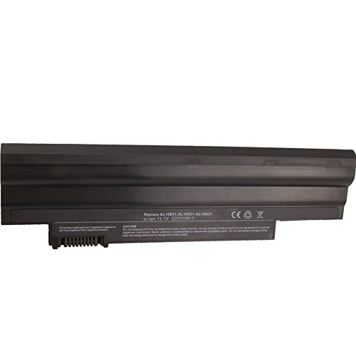 Bay Valley PartsNew Laptop Battery for Acer Aspire One 522 D255 D257 D260 D270 E100 AL10A31 AL10B31 Li-ion 6 Cell 11.1v 5200mAh/56wh