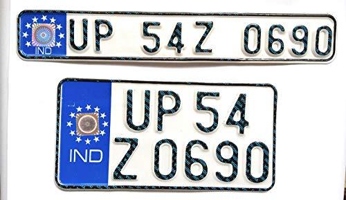 Generic Bike Licensed Ind Number Plate Front And Back