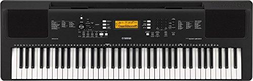 Yamaha Digital Keyboard PSR-EW300 – Tastiera Digitale ideale per principianti – Design portatile con 76 tasti dinamici e funzioni di apprendimento – Nero