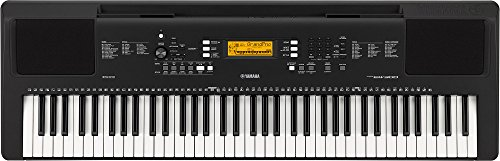 Yamaha PSR-EW300 Keyboard, schwarz – Tragbares Einsteiger-Keyboard mit 76 Tasten mit Anschlagdynamik – Digitales Keyboard mit 574 Instrumentenklängen, Stereo-Sound & USB-to-Host-Anschluss