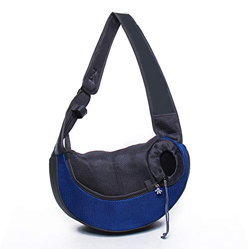 GHH Pet Sling Carrier,Premium Quality Safe and Comfortable Shoulder Bag Bring Your Pet Along in The Best Pet Travel Accessories for Walking Subway,Blue
