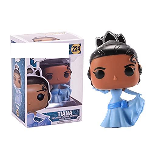 Figuras Pop Princesa Muñeca Tiana Figura De Acción De Vinilo Juguetes De Modelos Coleccionables para Niños Regalo 10Cm