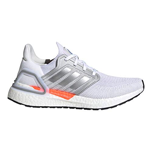adidas Running Ultraboost 20 DNA White/Silver Metallic/Fresh Candy 9.5 B (M)