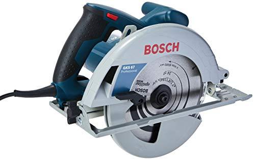 Bosch 06016230D4-000, Serra Circular GKS 67 110V, Azul