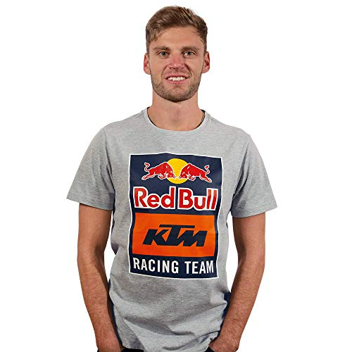 Red Bull KTM Emblem T-Camisa, Gris Hombres Small Camisa Manga Larga, KTM Racing Team Original Ropa & Accesorios
