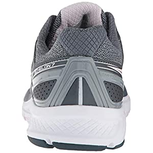 Saucony Women's S10470-1 Echelon 7 Running Shoe, Slate/Pink - 8 XW US