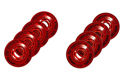 Revision Variant - Ruedas de hockey en línea para interiores (74 A, 72 mm), color rojo