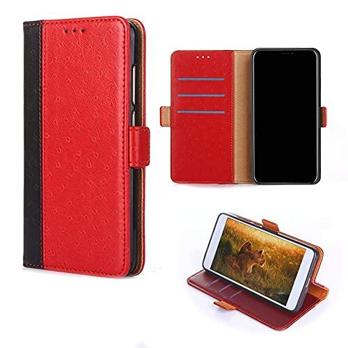 TNWGKPT Flip Hülle Für Elephone S3 Lite Hülle Handyhülle Hülle Cover [rot]