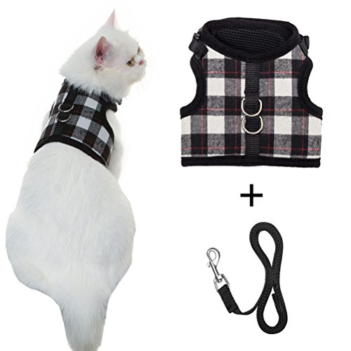PUPTECK Escape Proof Cat Harness with Leash