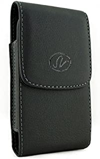 Vertical Leather Case with Belt Clip Carrying Pouch for Tracfone ZTE Quartz - Tracfone ZTE ZMax 2 - Acer Liquid Jade Primo - iPhone 6 Plus - iPhone 6S Plus