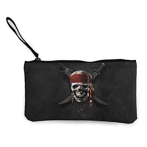 Hdadwy Piratas del Caribe para Mujer para Hombre Monedero para teléfono Bolsa de cosméticos, Bolso con Cremallera