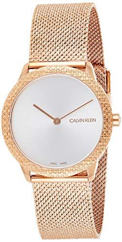Calvin Klein Damen Analog Quarz Uhr mit Edelstahl Armband K3M22U26
