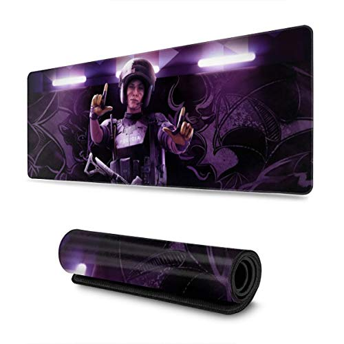 FPSMOUPD Mouse Pad Gaming Large Mira-Rainbow Six Siege Extended Mouse Pad with Stitched Edges Non-Slip Rubber Base 31.5' x 11.8' x 0.12'
